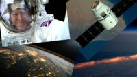 Montage of Tim Peake's photos