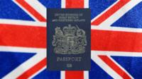 New, blue British passport