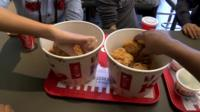 KFC buckets of chicken
