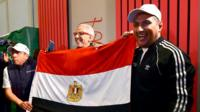 Egypt fans celebrate being awarded the 2019 Africa Cup of Nations hosting