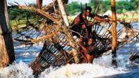 Fishermen in the Congo River