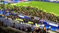 Stadium is evacuated