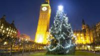 Decorated tree in Westminster