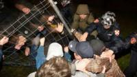 Задержание протестующих