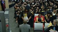 Proposal at graduation ceremony