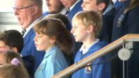Aberfan choir at the Senedd