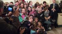 Children looking excited