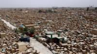 Najaf cemetery Iraq - 12 July 2014