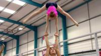 Acrobatic gymnasts