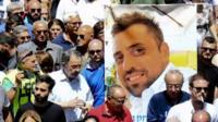 Photo of Mario Cerciello Rega at his funeral