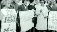 Campaigners for equal pay in the 1960s
