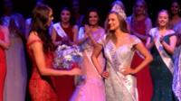 Miss Wales winner Gabriella Jukes collects her crown