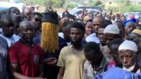Mourners at Hussein-Suale's funeral
