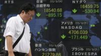 Stock market in Japan, where all stocks are down