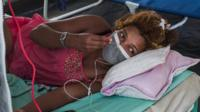Woman being treated in Madagascar plague outbreak