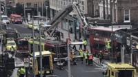 Scene of Lavender Hill bus crash: