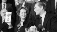 Former Prime Minister Margaret Thatcher with Cecil Parkinson