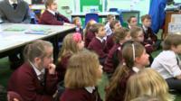 Pupils at St John's C of E Primary School in Knarsborough