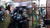 Несколько человек, арестованных после участия в митинге 27 июля, вышли на свободу. В спецприемнике их допрашивали следователи.