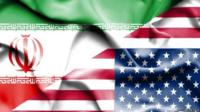 Iran, US flags