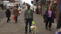 Amit Patel and guide dog Kika