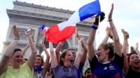 French fans celebrate
