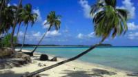 A beach on the Coco Islands.