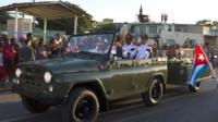 Fidel Castro's cortege