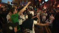 Many Real Madrid fans spent the night partying after the game