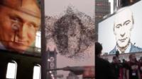 Три случая, когда портреты Путина появлялись в неожиданных местах