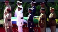 Winnie Madikizela-Mandela's casket