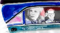 Illustration of Will Gompertz and Kate Blanchet in a car