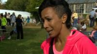 Olympic athlete Kelly Holmes speaks to the BBC