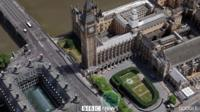 Aerial view of Westminster, where the attack took place