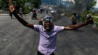 Haiti protester