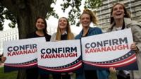 Protesters supporting Brett Kavanaugh
