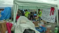 Aid workers help in Bregana