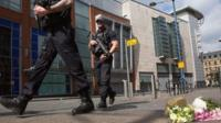 Police outside Manchester Arena after concert attack