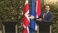 Luxembourg PM holds news conference without UK PM Boris Johnson