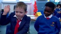 Two primary school children