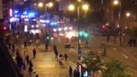 Unrest in Hackney, east London