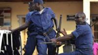Police on the streets of Bujumbura