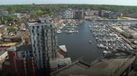View over looking Ipswich waterfront