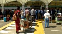 Queuing passengers at Jomo Kenyatta International Airport