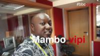 BBC Africa reporter in studio
