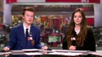 School Reporters present the special School Report TV news bulletin