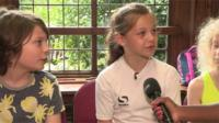 Kids answering questions