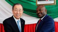 nkurunziza and Ban Ki-Moon