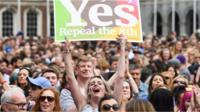 Irish abortion vote Yes campaigners