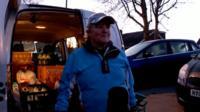 Lynne Walls delivering milk